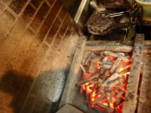うなぎの焼台 修理前 備長炭