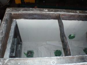 断熱ボード施工中2